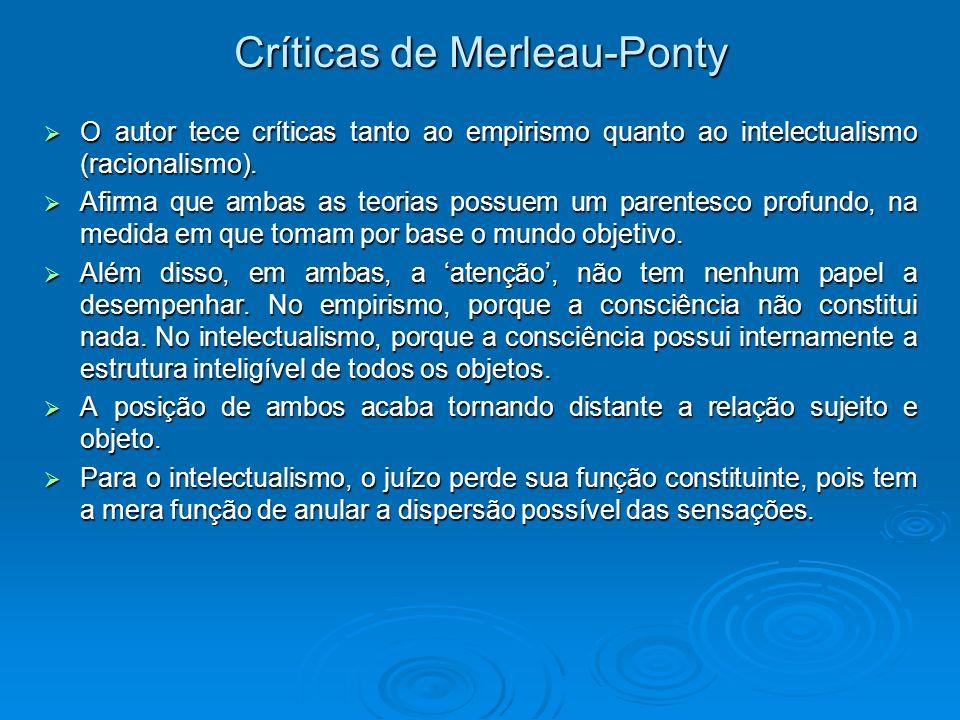 Críticas de Merleau-Ponty