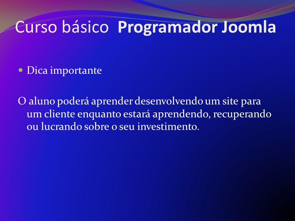 Curso básico Programador Joomla
