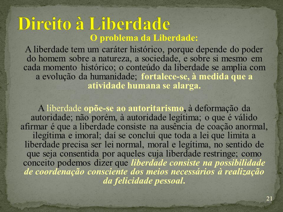 Direito à Liberdade