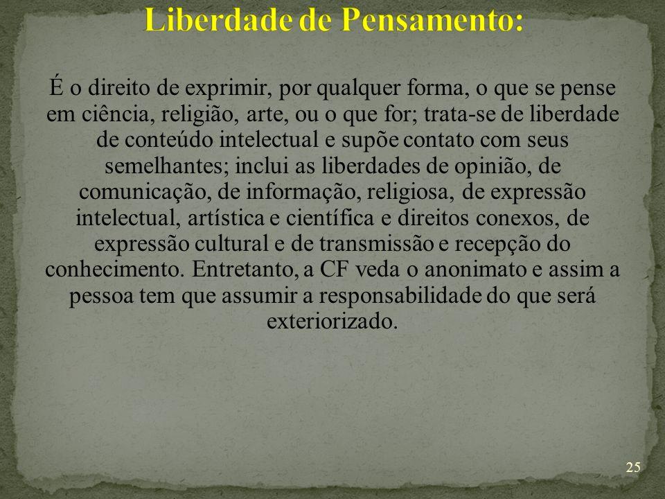 Liberdade de Pensamento:
