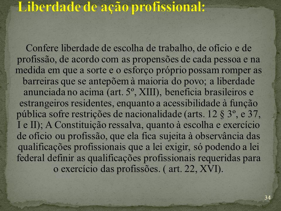 Liberdade de ação profissional: