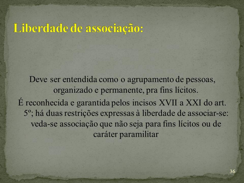Liberdade de associação: