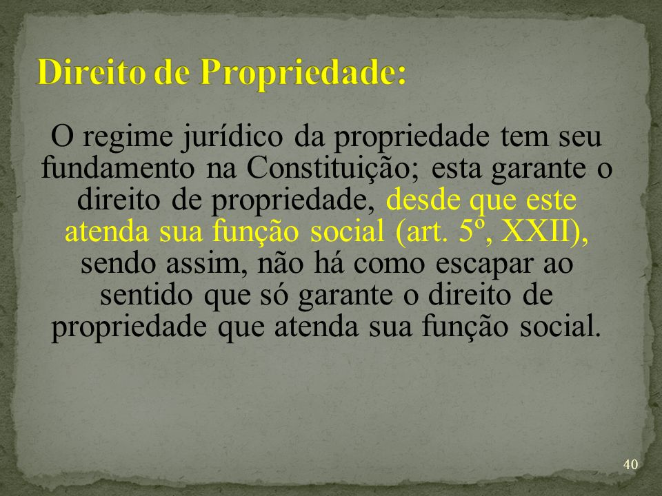 Direito de Propriedade: