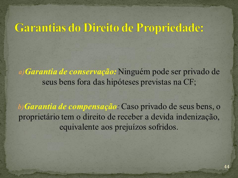 Garantias do Direito de Propriedade: