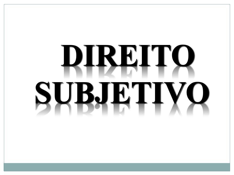 DIREITO SUBJETIVO