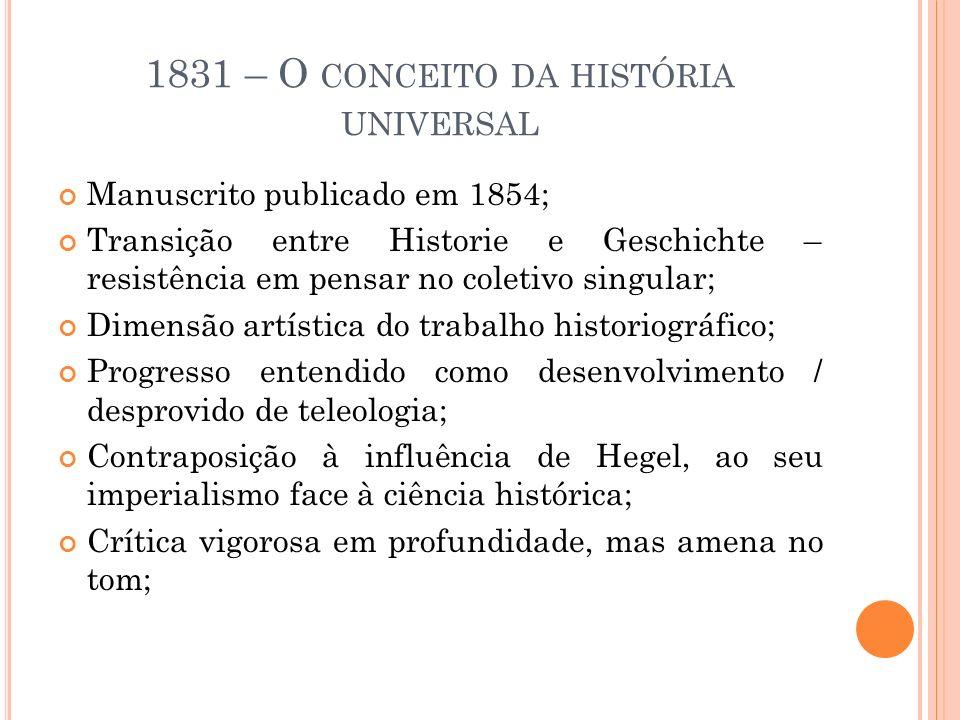 1831 – O conceito da história universal