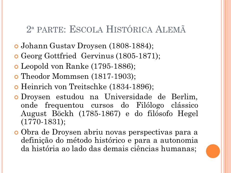 2ª parte: Escola Histórica Alemã