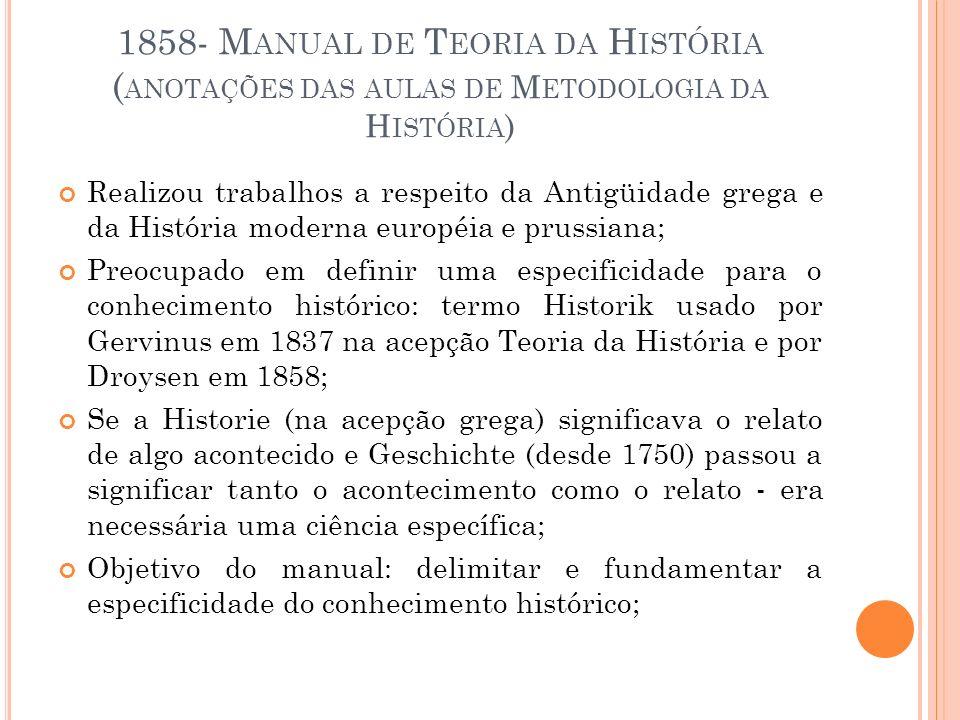 1858- Manual de Teoria da História (anotações das aulas de Metodologia da História)