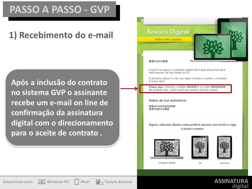 PASSO A PASSO - GVP 1) Recebimento do e-mail