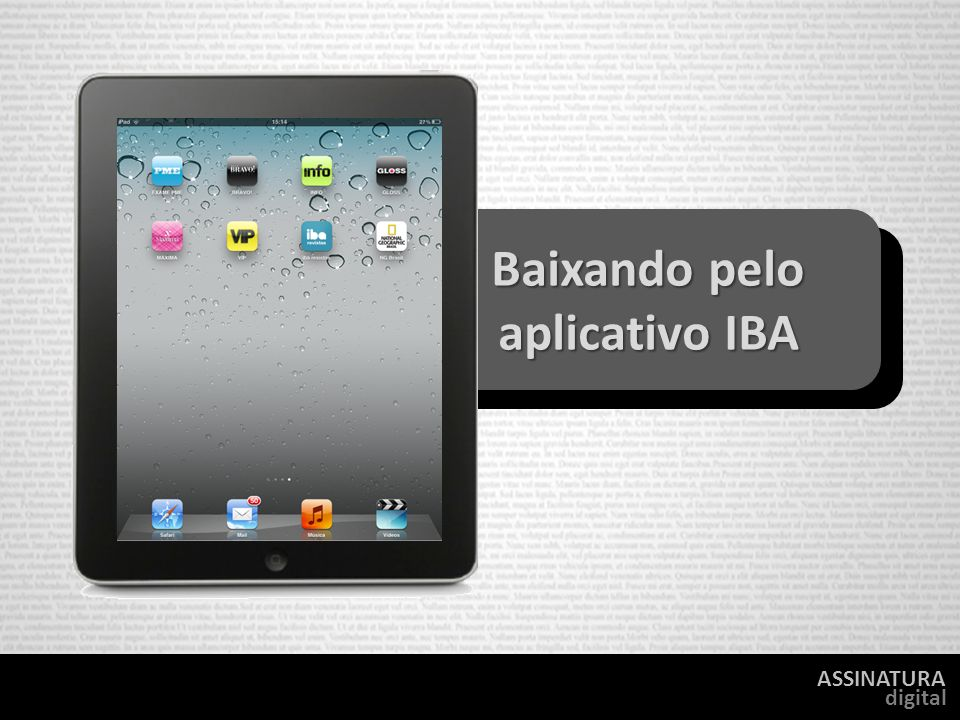 Baixando pelo aplicativo IBA