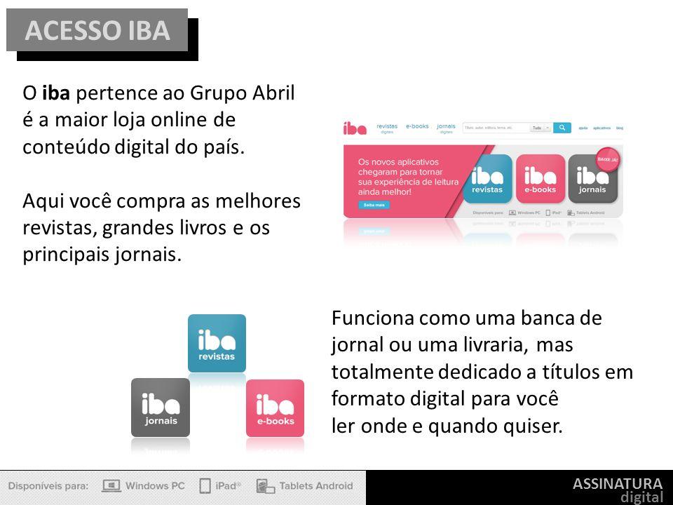 ACESSO IBA O iba pertence ao Grupo Abril é a maior loja online de