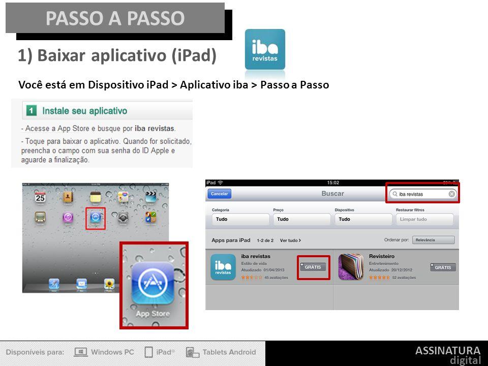 PASSO A PASSO 1) Baixar aplicativo (iPad)