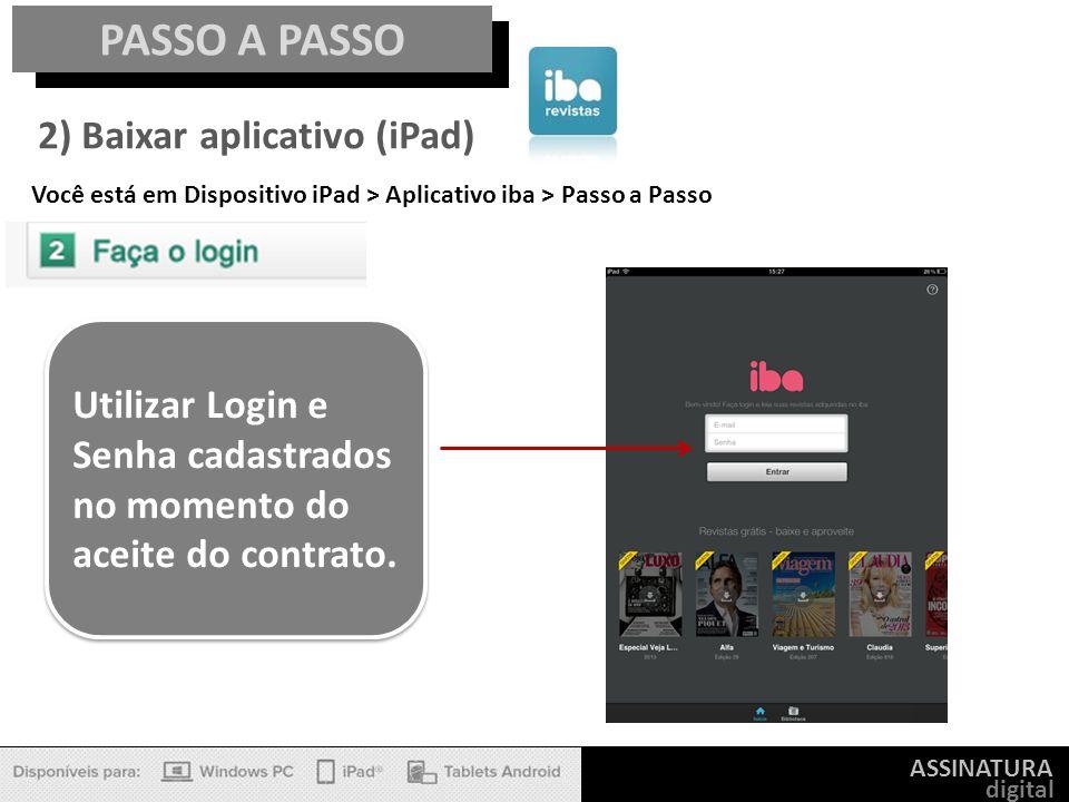 PASSO A PASSO 2) Baixar aplicativo (iPad)