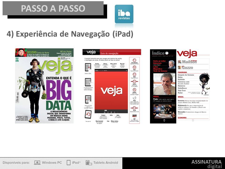 PASSO A PASSO 4) Experiência de Navegação (iPad) ASSINATURA digital