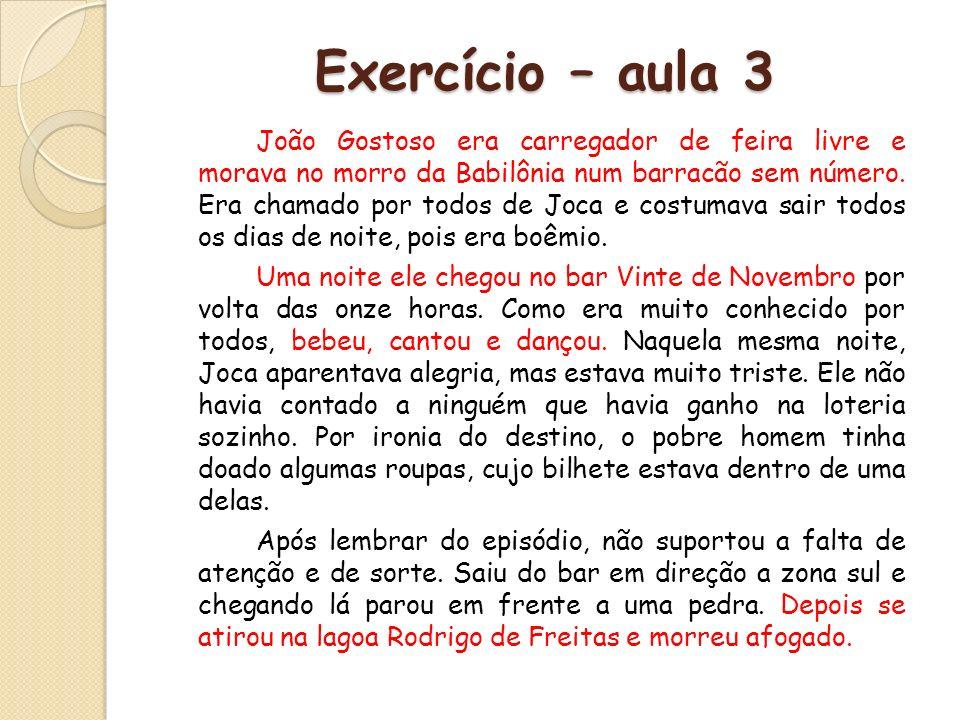 Exercício – aula 3