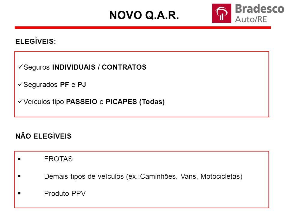 NOVO Q.A.R. ELEGÍVEIS: Seguros INDIVIDUAIS / CONTRATOS