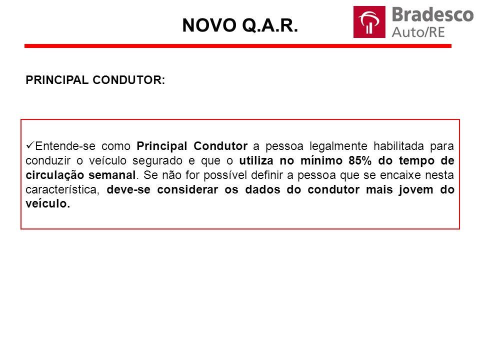 NOVO Q.A.R. PRINCIPAL CONDUTOR: