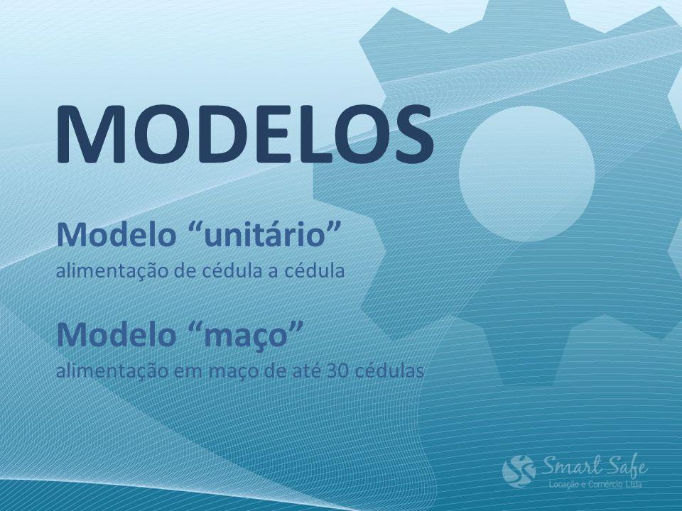 MODELOS Modelo unitário Modelo maço alimentação de cédula a cédula