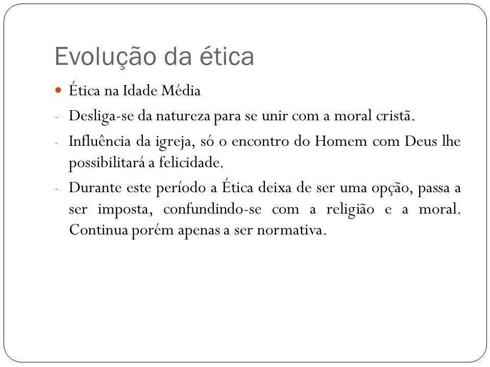 Evolução da ética Ética na Idade Média