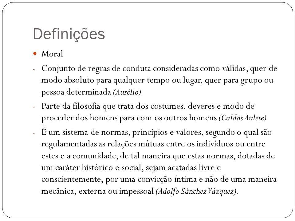 Definições Moral.