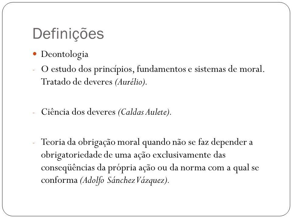 Definições Deontologia
