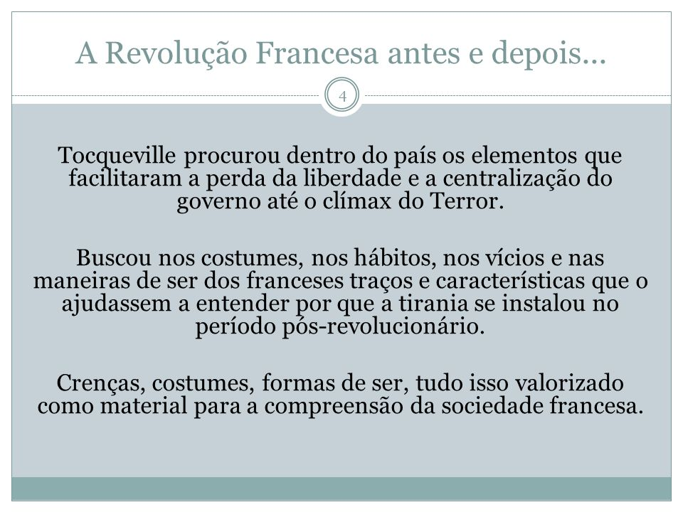 A Revolução Francesa antes e depois...
