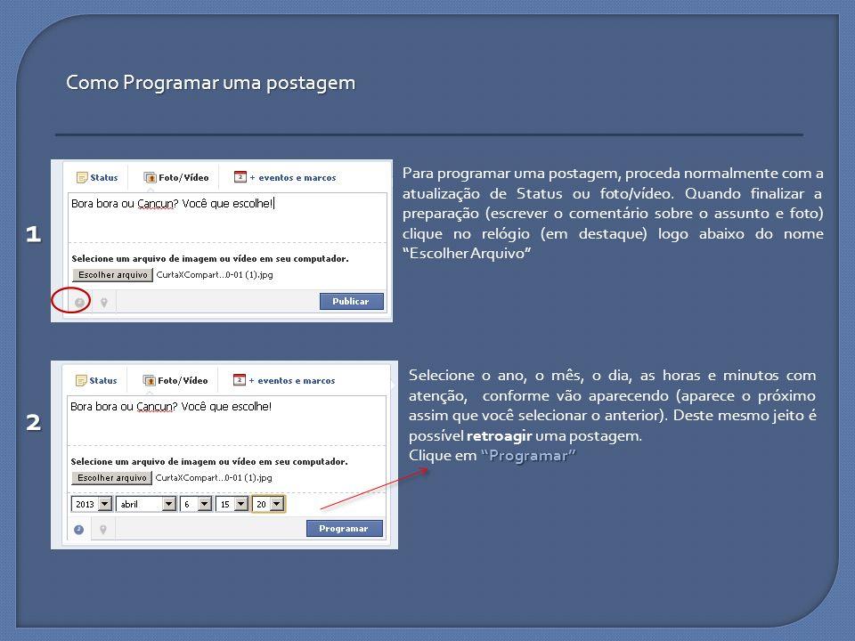 1 2 Como Programar uma postagem