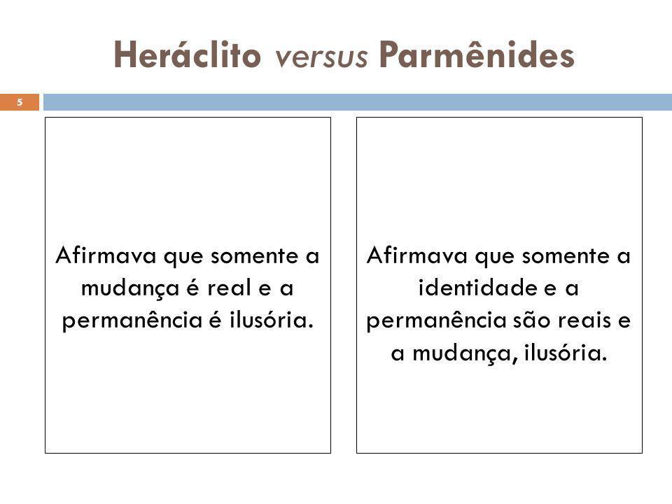 Heráclito versus Parmênides
