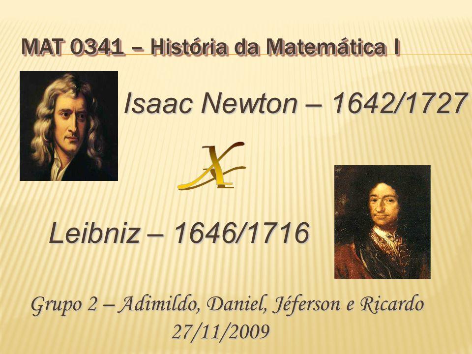 MAT 0341 – História da Matemática I