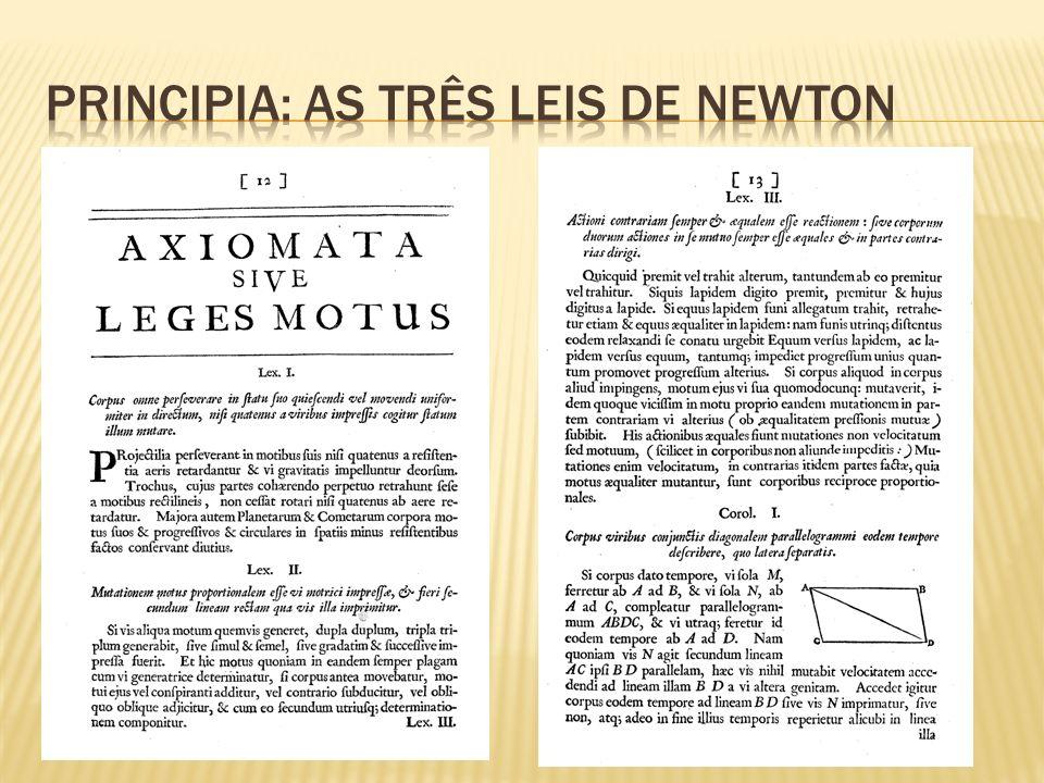 Principia: As três Leis de Newton