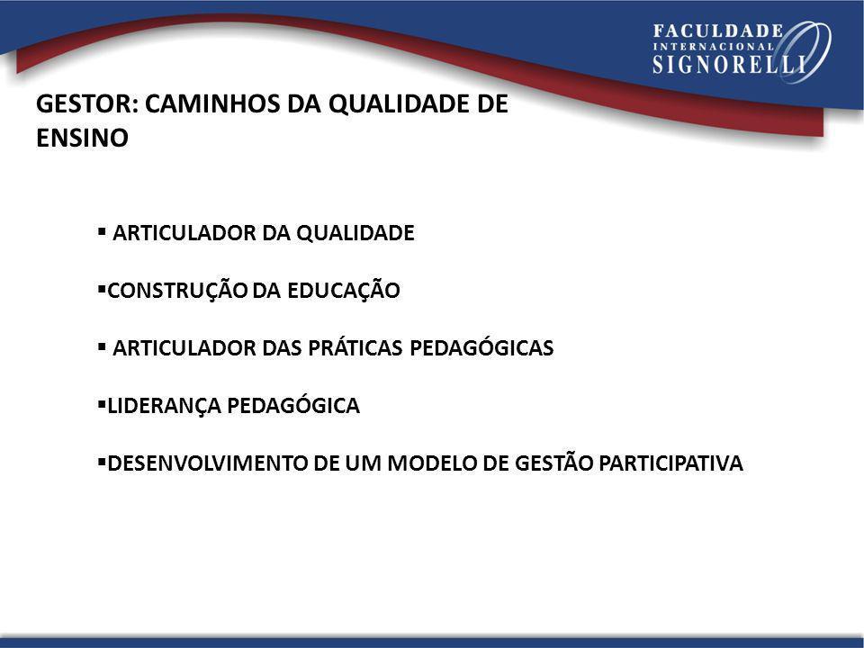 GESTOR: CAMINHOS DA QUALIDADE DE ENSINO