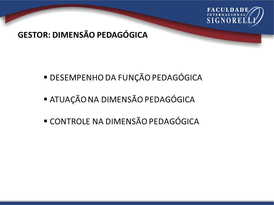 GESTOR: DIMENSÃO PEDAGÓGICA