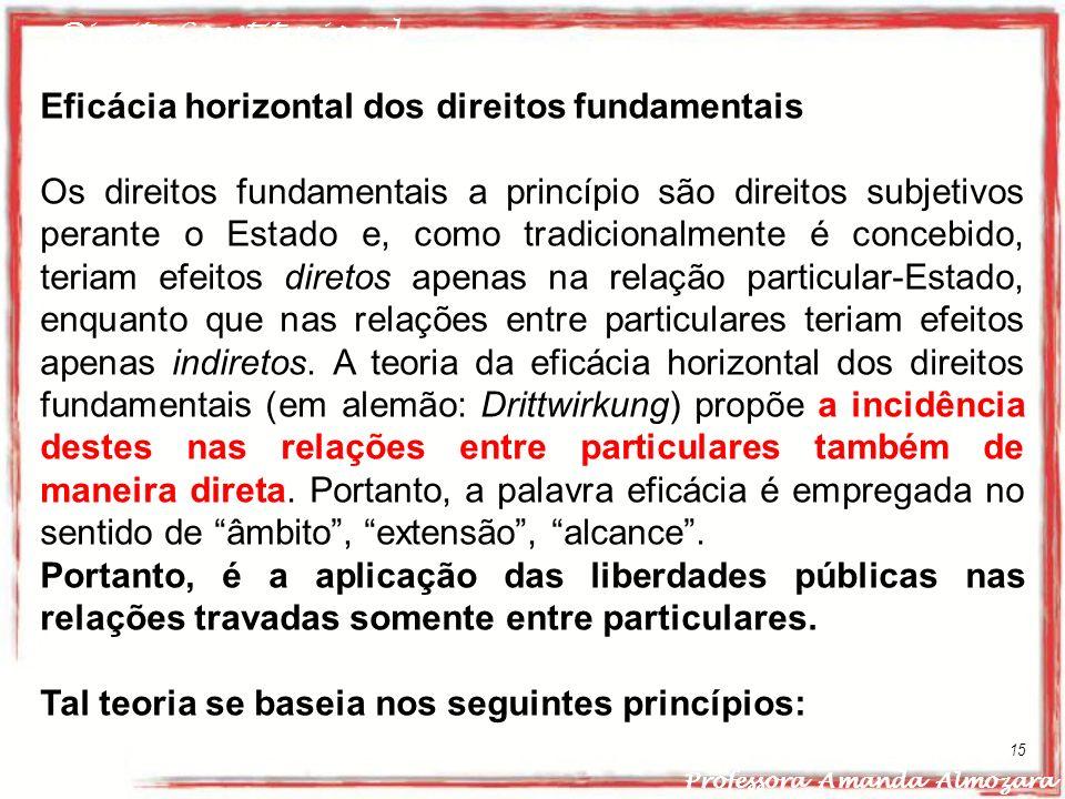 Eficácia horizontal dos direitos fundamentais