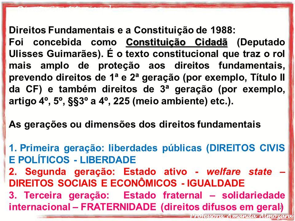 Direitos Fundamentais e a Constituição de 1988: