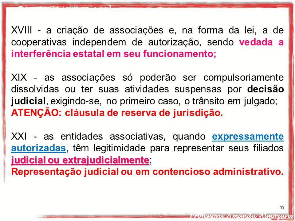 ATENÇÃO: cláusula de reserva de jurisdição.
