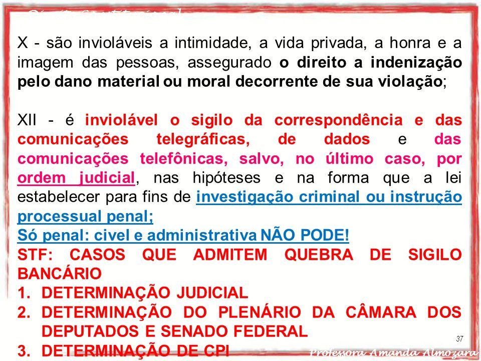 Só penal: civel e administrativa NÃO PODE!
