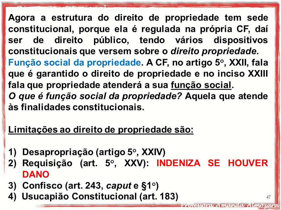 Limitações ao direito de propriedade são: