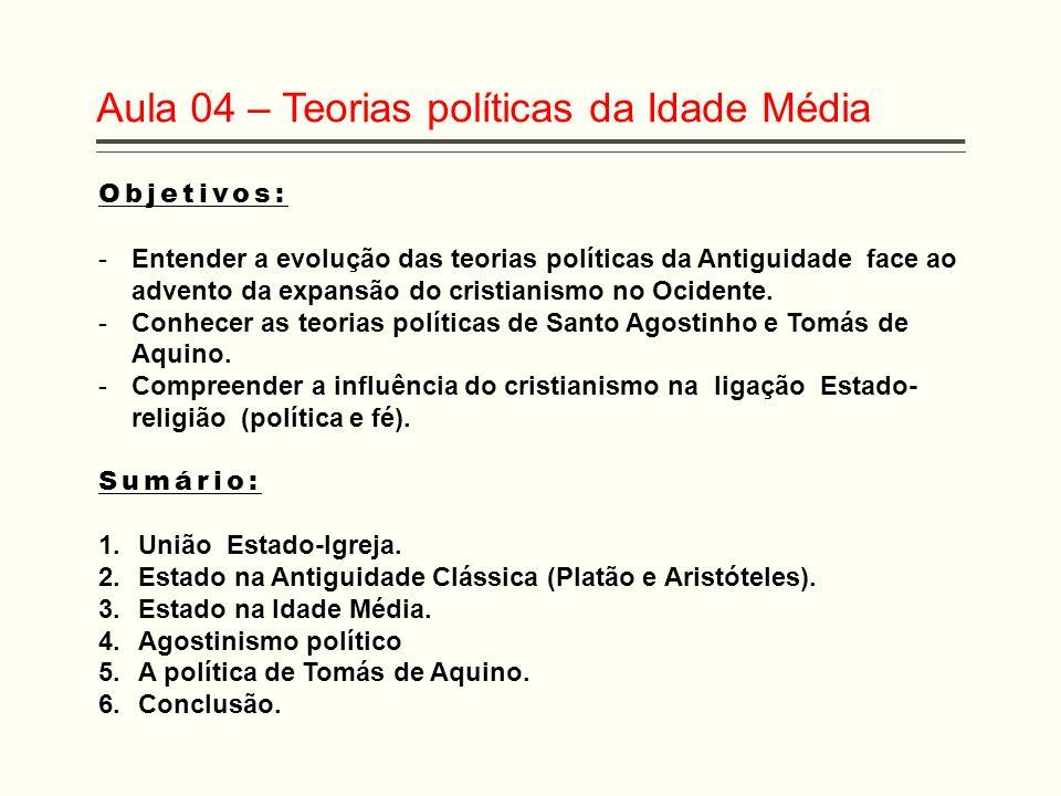 Aula 04 – Teorias políticas da Idade Média