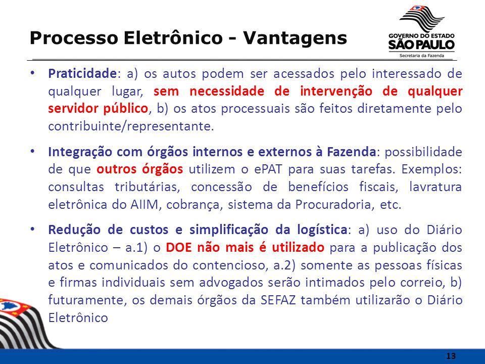 Processo Eletrônico - Vantagens