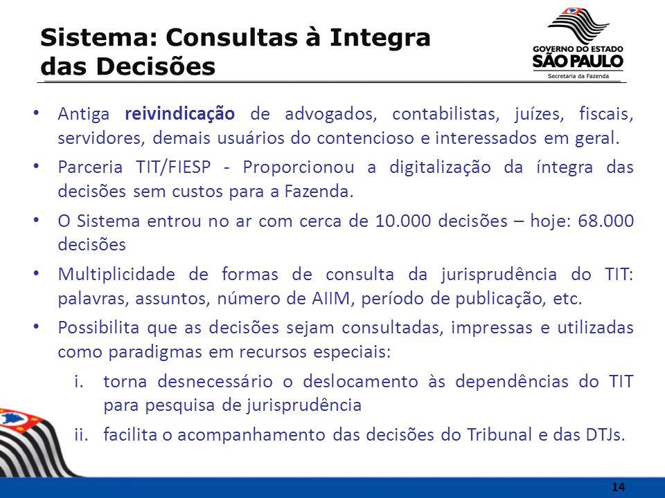 Sistema: Consultas à Integra das Decisões