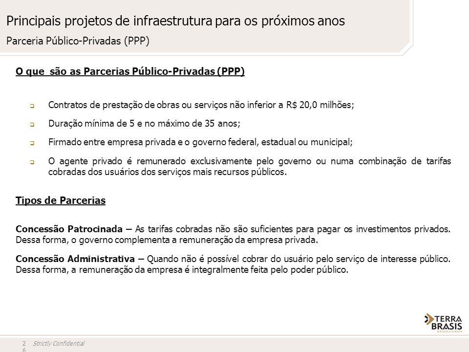 Principais projetos de infraestrutura para os próximos anos