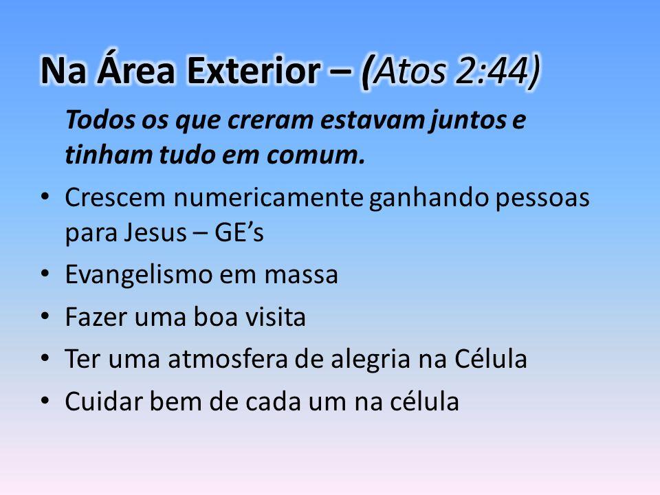 Na Área Exterior – (Atos 2:44)