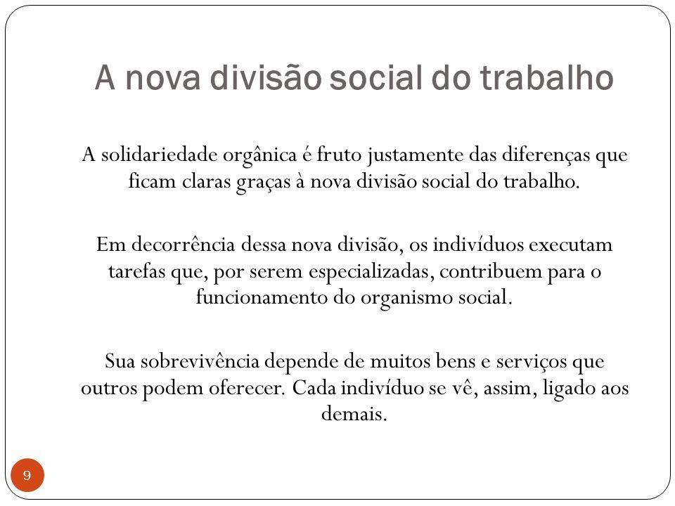 A nova divisão social do trabalho