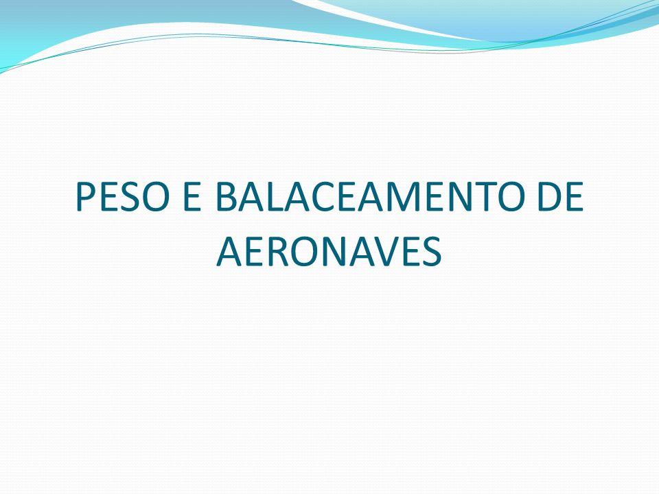 PESO E BALACEAMENTO DE AERONAVES