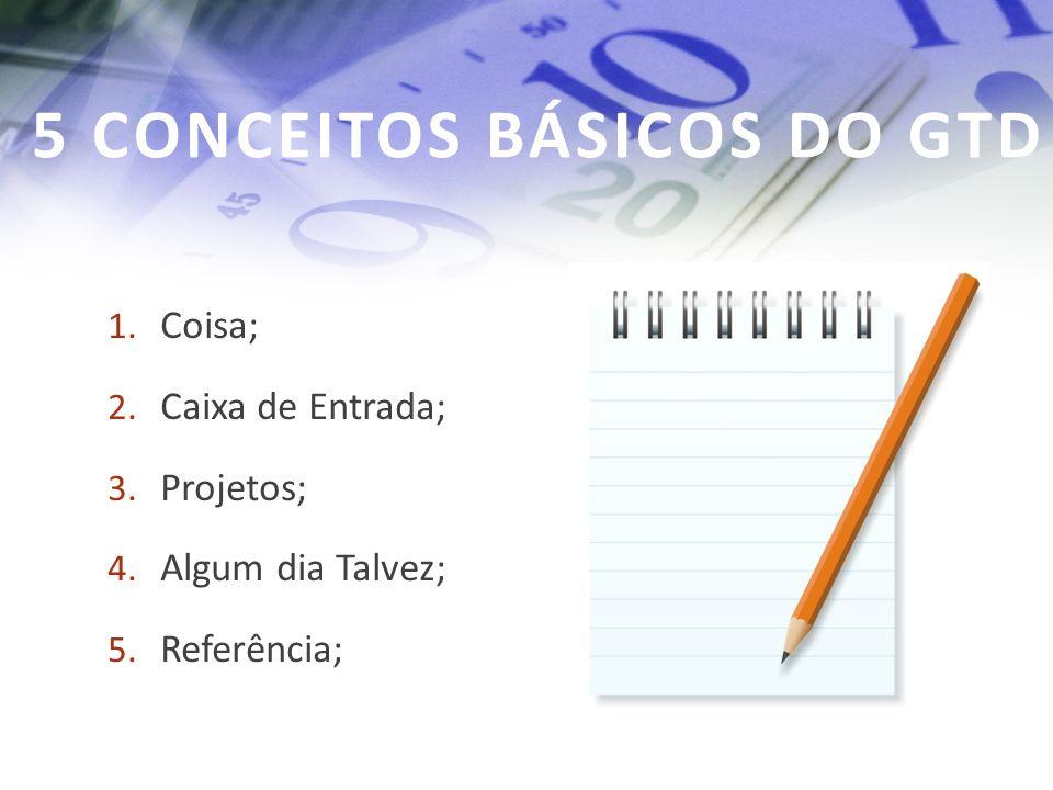 5 CONCEITOS BÁSICOS DO GTD