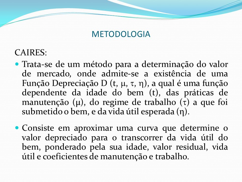 METODOLOGIA CAIRES: