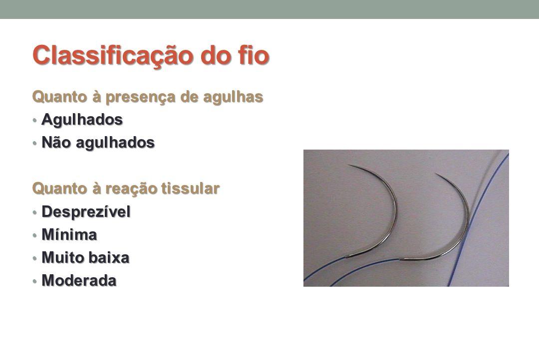 Classificação do fio Quanto à presença de agulhas Agulhados