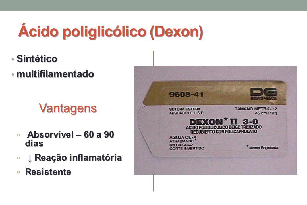 Ácido poliglicólico (Dexon)