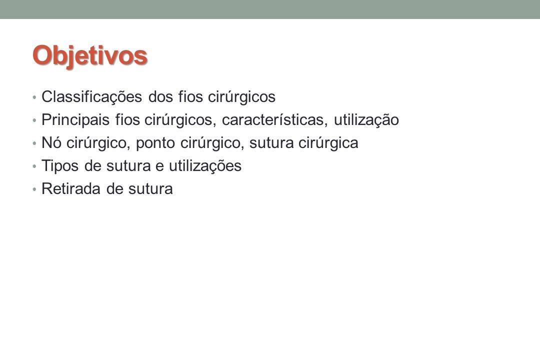 Objetivos Classificações dos fios cirúrgicos