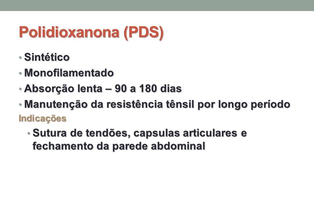 Polidioxanona (PDS) Sintético Monofilamentado